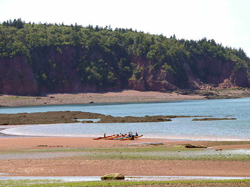 Spicers-Cove-with-kayaks-on-beach