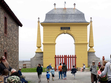 imposing ocean gate at Fortress Louisbourg