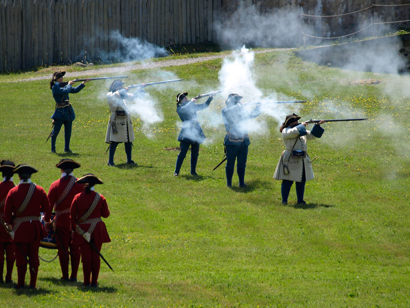 soldiers-firing-muskets-Fortress-Louisbourg-NS