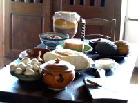 food-set-for-cooking-table-Fortrress-Louisbourg-Cape-Breton-NS