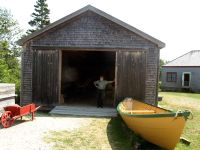 Boat-Shop-with-dory-Historic-Acadian-Village-Pubnico-NS