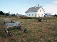 farm-implements-Historic-Acadian-Village-Pubnico-NS