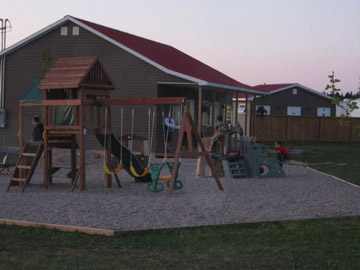 Playground for the kids at Meadow Ridge Campground